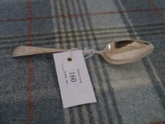An early 19th century Scottish Provincial silver dessert spoon, James Erskine, Aberdeen, c. 1800,