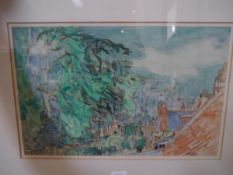 Sir William George Gillies R.S.A., R.S.W. (Scottish 1898-1973), Temple Cottage, signed lower