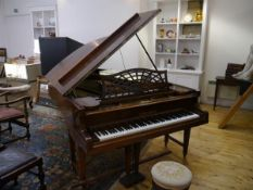 A Bechstein Model B grand piano, early 20th century, iron framed. 192cm