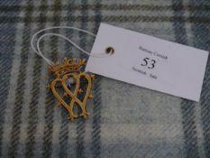 A 9ct gold Luckenbooth brooch, Edinburgh mark