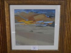Sylvia Allen (Scottish b. 1951), Abstract Landscape, signed lower left, oil, framed, reputedly ex-