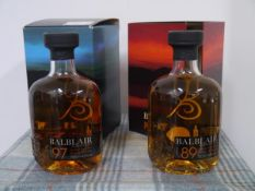 Two bottles of Balblair Highland Single Malt Scotch Whisky, 1989 and 1997, boxed