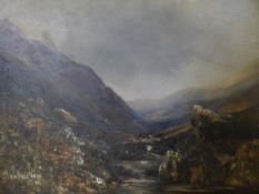 Mclennan (Scottish, early 20th Century), A Highland Glen, signed lower left and dated (19)24, oil on