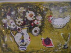 Anne Redpath OBE RSA ARA (Scottish, 1895-1965), Still Live with Delft Vase, a limited edition