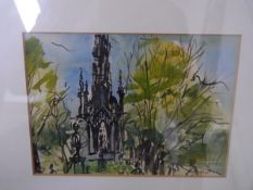 Sax R. Shaw (Scottish 1916-2000), The Scott Monument Edinburgh, signed lower right and dated (19)60,
