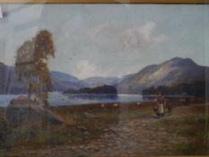 Andrew Hislop (Scottish fl. 1880-1903), On Loch Lomond's Shore, signed lower right, oil on canvas,