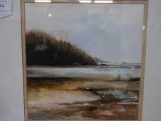 Joan Renton R.S.W. (Scottish b. 1935), Evening Sunlight, signed lower right, watercolour, framed,