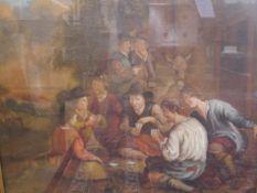 Scottish School, 19th Century, The Card Scene from Robert Louis Stevenson's Kidnapped, oil on
