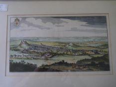 After Johann Ludwig Gottfried, Edynburgum, a panorama of the city of Edinburgh, originally published