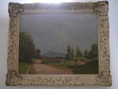 George Houston R.S.A., R.S.W. (Scottish 1869-1947), An Ayrshire Landscape, signed lower left, oil on