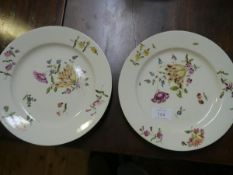 """A pair of late 18th/early 19th century porcelain plates each bearing underglaze blue """"beehive"""""""