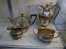 A George V silver three piece tea service, James Dixon & Son, Sheffield 1922, in the Georgian taste,
