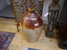 "A large 19th century salt-glazed stoneware flagon ""R Schaw & Co, Leith"" 49cm"
