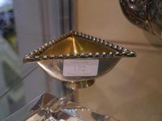 "A George V Scottish silver salt, Brook & Son Edinburgh 1930, stamped to the underside ""Traprain"