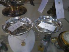A pair of George V silver ashtrays, Birmingham 1923, circular. 2.7 troy ounces