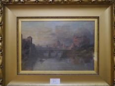 Pollock Sinclair Nisbet A.R.S.A., R.S.W., (Scottish 1848-1922), A View of the Castel Sant'Angelo and