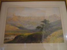 G. Trevor (South African, fl. 1920-40), A South African Landscape, signed lower left, watercolour,