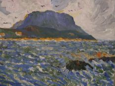 Robert Taylor Carson R.H.A. (1919-2008), Loop Head, Co. Clare, signed lower left and dated 2001, oil