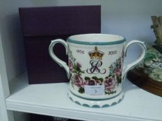 A Griselda Hill Wemyss Pottery limited edition commemorative loving cup, for the Queen Mother's