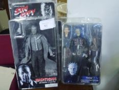 Two boxed fantasy figures, Pinhead from Hellraiser by Reel Toys (NECA) and Hartigan (with revolver