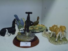 Three Border Fine Arts models comprising: Wildlife Families (Chiltern Collection); Who's Milk Is