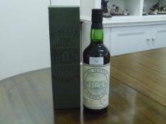 A bottle of Scotch Malt Whisky, bottled by The Scotch Malt Whisky Society, cask no. 78.9,