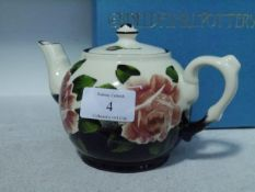 A Griselda Hill Wemyss Pottery limited edition commemorative teapot, for the Queen's Golden Jubilee,