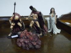 """A group of fantasy figures from """"The Three Hundred"""" (Warner Bros. 2007) (4)"""
