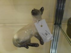 A Royal Copenhagen porcelain model of an alert Siamese, no. 2862