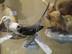 A Rosenthal porcelain model of a Wagtail, no. 575, modelled by Theodore Karner