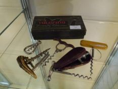A group of vintage corkscrews