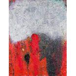 Herbert Brandl (Graz 1959 geb.)  (ohne Titel)  Öl auf Leinwand 73,5 x 55,5 cm 1985 rückseitig