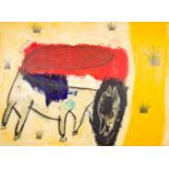 Mario Dalpra * (Feldkirch 1960 geb.)  Nach der Blendung (Consciousness) Acryl auf Leinwand 200 x 270