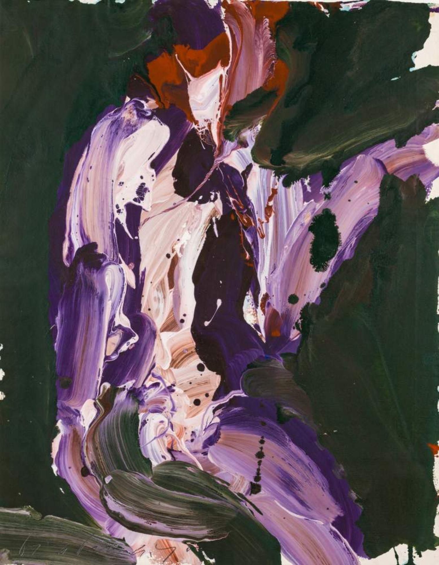 Franz Grabmayr (Pfaffenberg bei Obervellach 1927 - 2015 Wien)  Tanzblatt Acryl und Leimfarbe auf