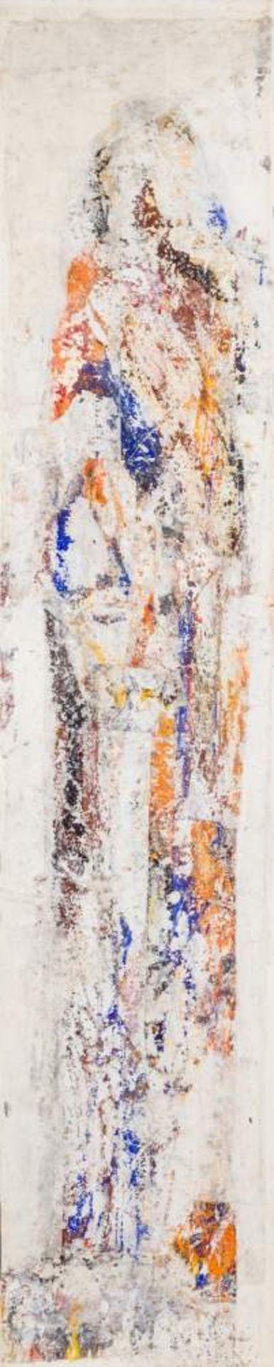 Valentin Oman (St. Stefan bei Villach 1935 geb.)  Okameneli Spomini Mischtechnik auf Leinwand 200