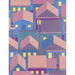 Hubert Schmalix (Graz 1952 geb.)  Häuser Öl auf Leinwand 91 x 70 cm 2014 rückseitig signiert und