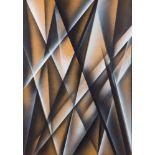 Alfons Schilling * (Basel 1934 - 2013 Wien)  Autobinäres Stereobild Acryl auf Hartfaserplatte 140