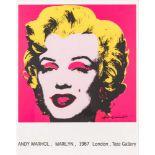Andy Warhol (Pittsburgh 1928 - 1987 New York)  MARILYN (Ausstellungsplakat Tate Gallery) Siebdruck