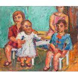Herbert Boeckl * (Klagenfurt 1894 - 1966 Wien)  Vier Töchter des Künstlers Öl auf Leinwand 122,5 x