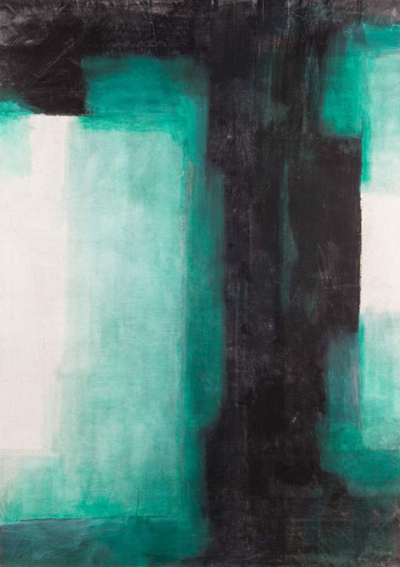 Walter Vopava * (Wien 1948 geb.)  (ohne Titel)  Acryl auf Leinwand 205 x 145 cm 2007 rückseitig zwei
