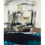 Peter Marquant * (Wien 1954 geb.)  Felswand Öl auf Leinwand 170 x 140 cm 1986 rechts unten