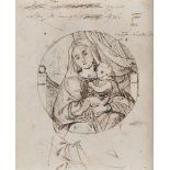 CENTRAL ITALY PAINTER, 17TH CENTURY SELF PORTRAIT Graphite and red pencil on paper, cm. 20 x 16.5