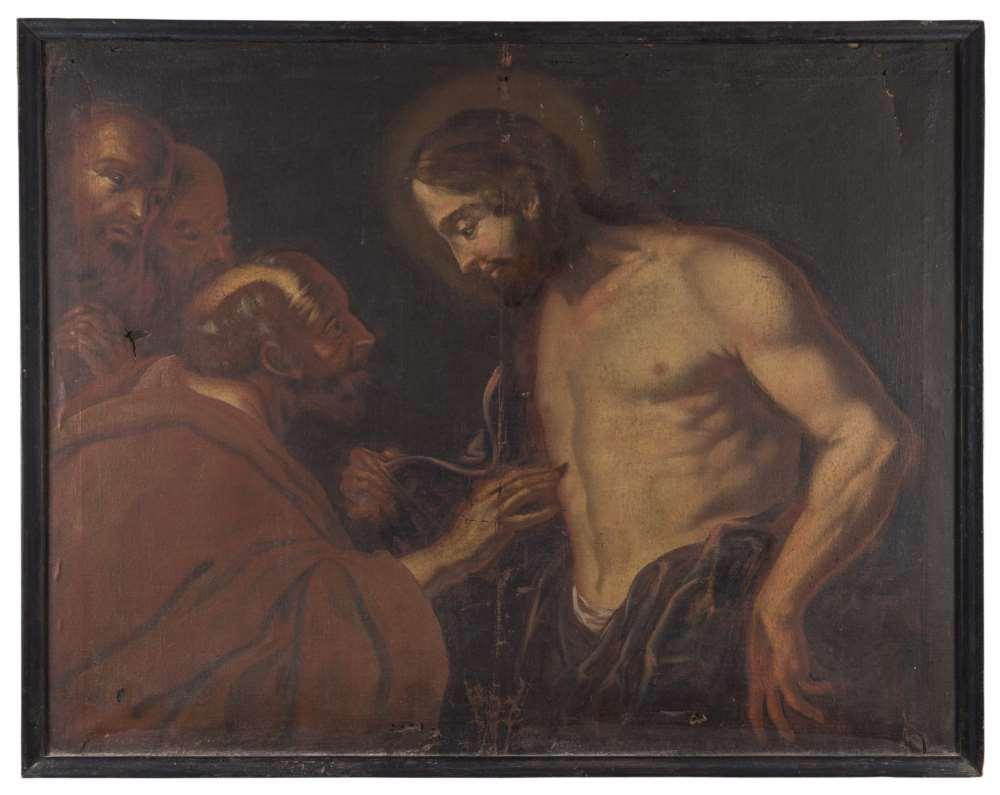 ROMAN PAINTER, 17TH CENTURY THE INCREDULITY OF ST. THOMAS