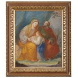 NEAPOLITAN PAINTER, LATE 18TH, EARLY 19TH CENTURY THE VIRGIN'S EDUCATION Oil on canvas, cm. 37 x