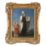 EUROPEAN PAINTER, EARLY 19TH CENTURY SAINT FRANCESCA ROMANA Oil on panel, cm. 21 x 16,5 FRAME