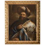 DOMENICO MARIA CANUTI (Bologna 1626 - 1684) PORTRAIT OF OLD MAN IN ORIENTAL DRESSES Oil on canvas,