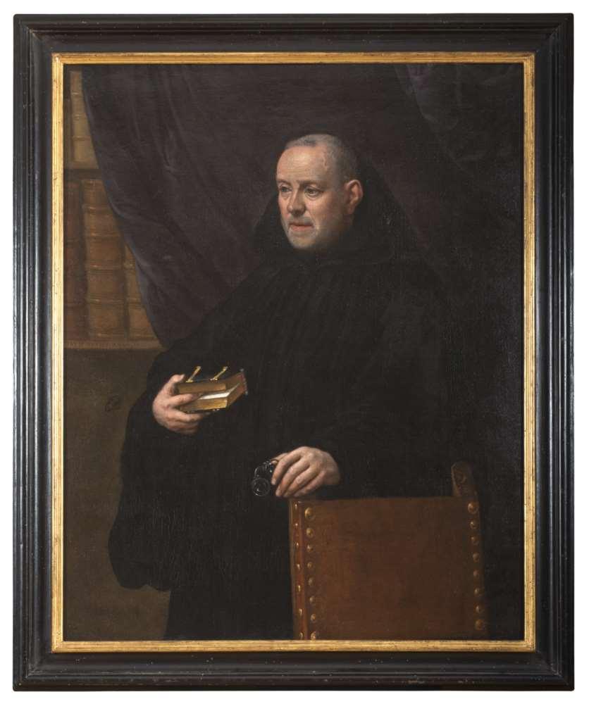 LEANDRO BASSANO (Bassano 1557 - Venice 1622) MONK'S PORTRAIT WITH BOOK Oil on canvas, cm. 115,5 x