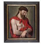 VENETIAN PAINTER, 17TH CENTURY ECCE HOMO Oil on canvas, cm. 51,5 x 43 PROVENANCE Roman family