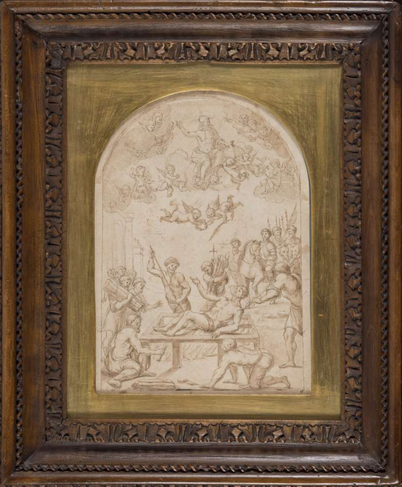 PASQUALE CATI, att. to (Jesi 1550 - Rome 1620) MARTYRDOM OF SAINT LAURENT