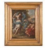 ROMAN PAINTER, LATE 17TH CENTURY SELENE AND ENDIMIONE Oil on canvas, cm. 45 x 33,5 CONDITION